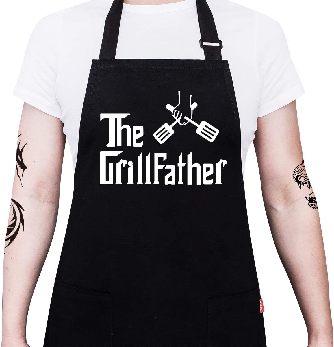 Funny Grilling Apron BBQ Apron Dads Apron Grilling Apron for Dad Apron with Ties