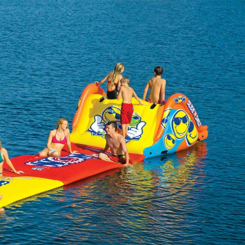 WOW World of Watersports 19-2210 Slide N Smile Floating 2 Lane Waterslide, 9 Feet Long by WOW Sports (Image #3)