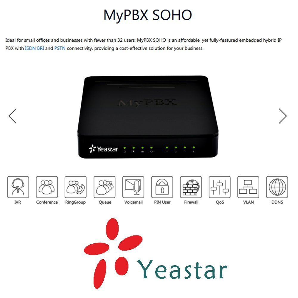 Yeastar SOHO MyPBX VoIP Phone and Device