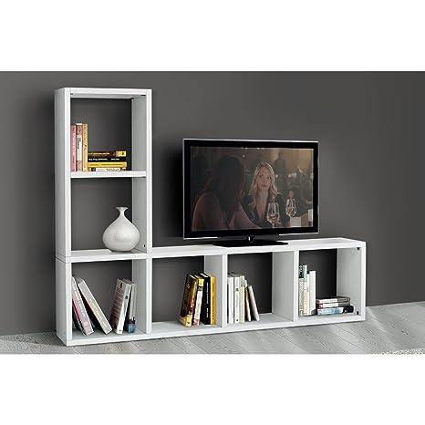 Mobile TV Porta TV Cm 175 X 30 X 132 H Frassinato Bianco per ...