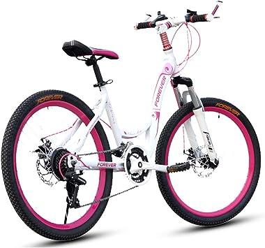 GPAN 24 Pulgadas Bicicleta Montaña Bikes Mujeres MTB,Doble Freno Disco,27 Velocidades,Adecuado para Altura: 145-165cm: Amazon.es: Deportes y aire libre