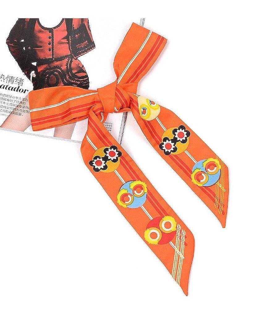 AOYOMO Hair Head Band Twilly Handbag Handle Wrap Silk Ribbon for Tote