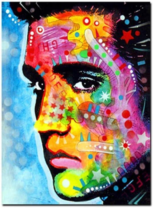 XuFan Figura Famosa Pintura al óleo Ernesto Guevara Arte de la Pared Lienzo Pintura Cuadros póster Arte Regalo decoración para el hogar-50x75 cm sin Marco