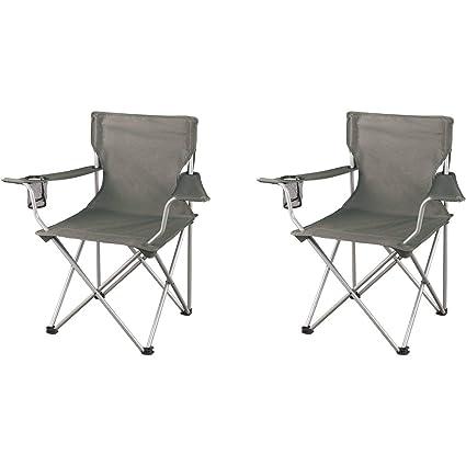 Ozark Trail Regular Armchairs, Grey, 2 Pack