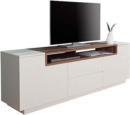 comforium meuble tv 180 cm en bois de