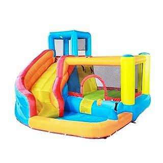 Parco gonfiabile del castello gonfiabile dei bambini di grandi scivoli per bambini all'aperto del parco giochi all'aperto del trampolino adatto a 5 ~ 8 persone ( Color : BLUE , Size : 280*320*210CM )