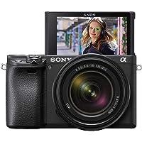 Sony Alpha 6400   Aparat bezlusterkowy APS-C z obiektywem zmiennoogniskowym Sony 18–135 mm f/3.5–5.6 (szybki system AF 0…