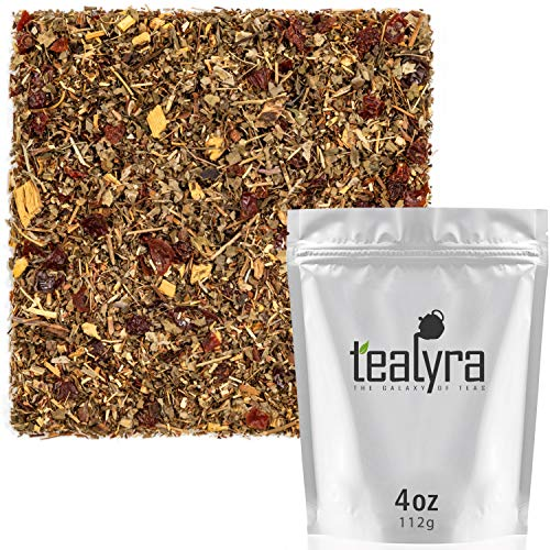(Tealyra - Root Beer - Green Rooibos - Strawberry Leaves - Licorice - Honeybush - Unique Herbal Loose Leaf Tea - Caffeine Free - All Natuaral - 112g (4-ounce))