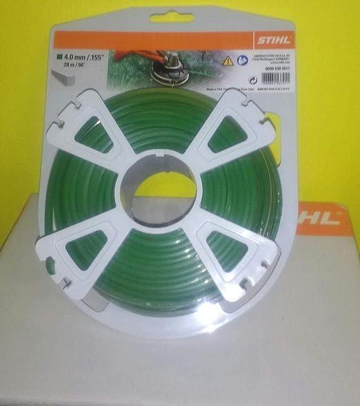 Stihl Hilo desbrozadora 4 mm Cuadrado 28 MT Verde: Amazon.es: Jardín