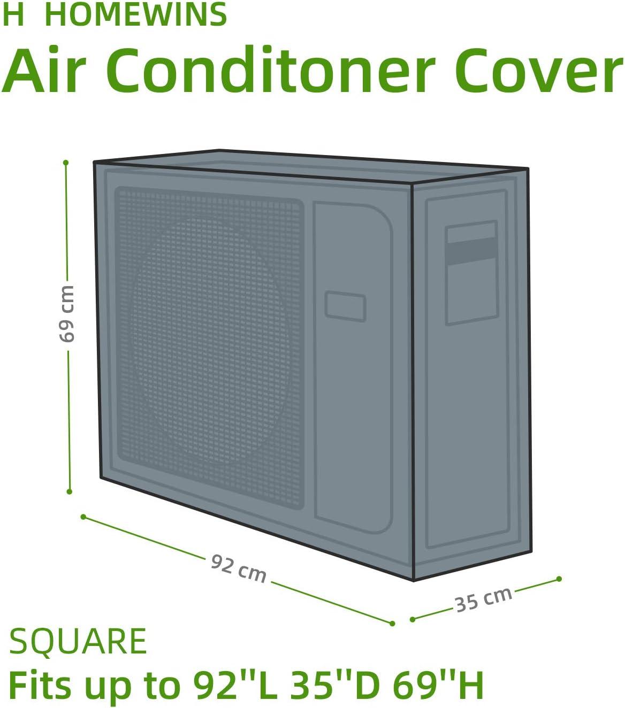 80 57CM 26 HOMEWINS Housse de Protection pour Climatiseur /Éxterieur Anti-poussi/ère Anti-Snow Anti-Solaire Imperm/éable