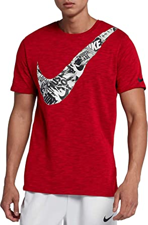 25123399 Image Unavailable. Image not available for. Color: Nike Mens Dry Slub Swoosh  Graphic T-Shirt ...