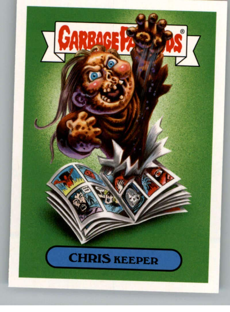 2018 Topps Garbage Pail Kids Oh The Horror-ible 80s Horror Sticker B #14B CHRIS KEEPER Sticker Trading Card