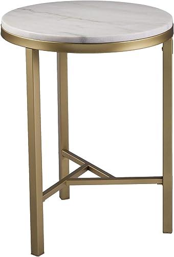 SEI Furniture Garza Midcentury Modern Marble Side Table