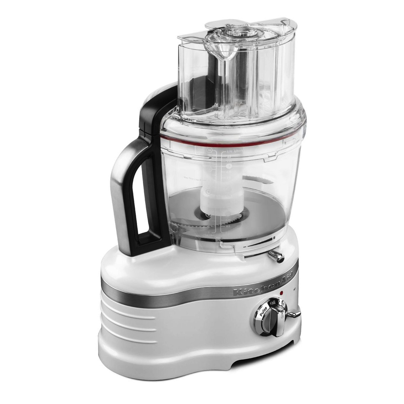 KitchenAid KFP1642FP ProLine 16 Cup Frosted Pearl White Food Processor with ExactSlice System