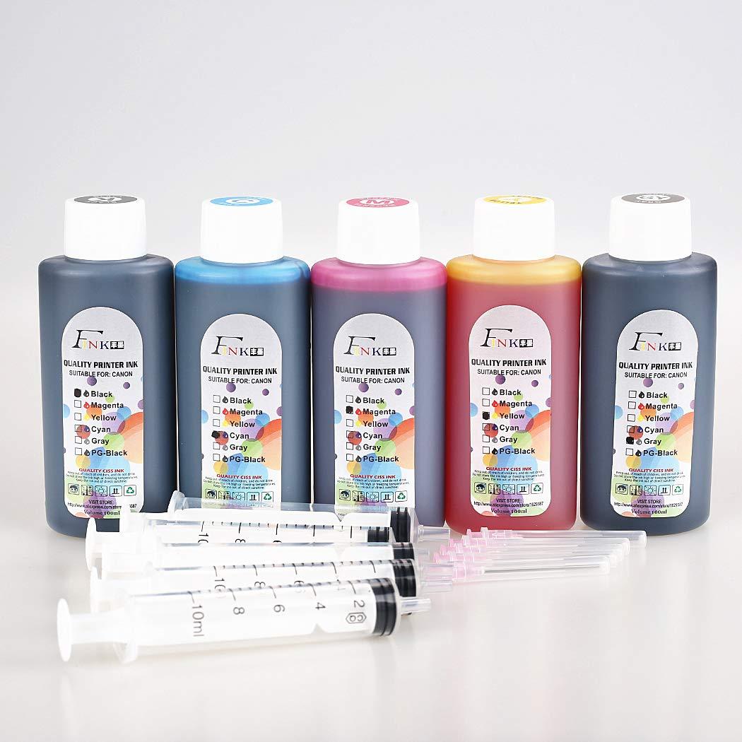FINK 5 Botellas de Tinta de Calidad Compatible con Cartuchos de ...