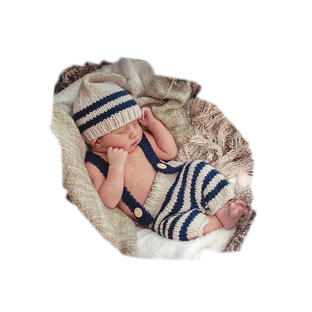e540231b0 Fashion Cute Newborn Baby Photography Props Outfits Boy Girl Crochet  Knitted Hat Pants