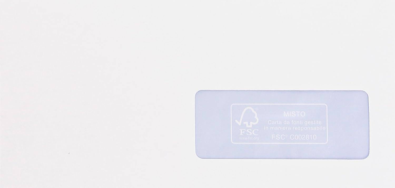 Pigna Edera Strip 500 buste bianche 110x230mm Pigna Envelopes 0170578AM