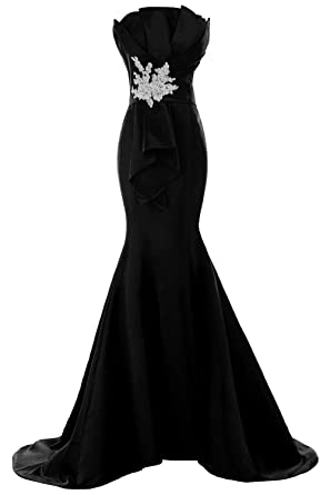 Sunvary Designer Slim-Line Mermaid Satin Evening Prom Gowns Lady Formal Dresses- US Size