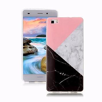 Yunbaoz Funda Compatible para Huawei P8 Lite Mármol, Diseño Mármol Carcasa Suave Goma Silicona Soft Marble Case Suitable for Huawei P8 Lite - ...