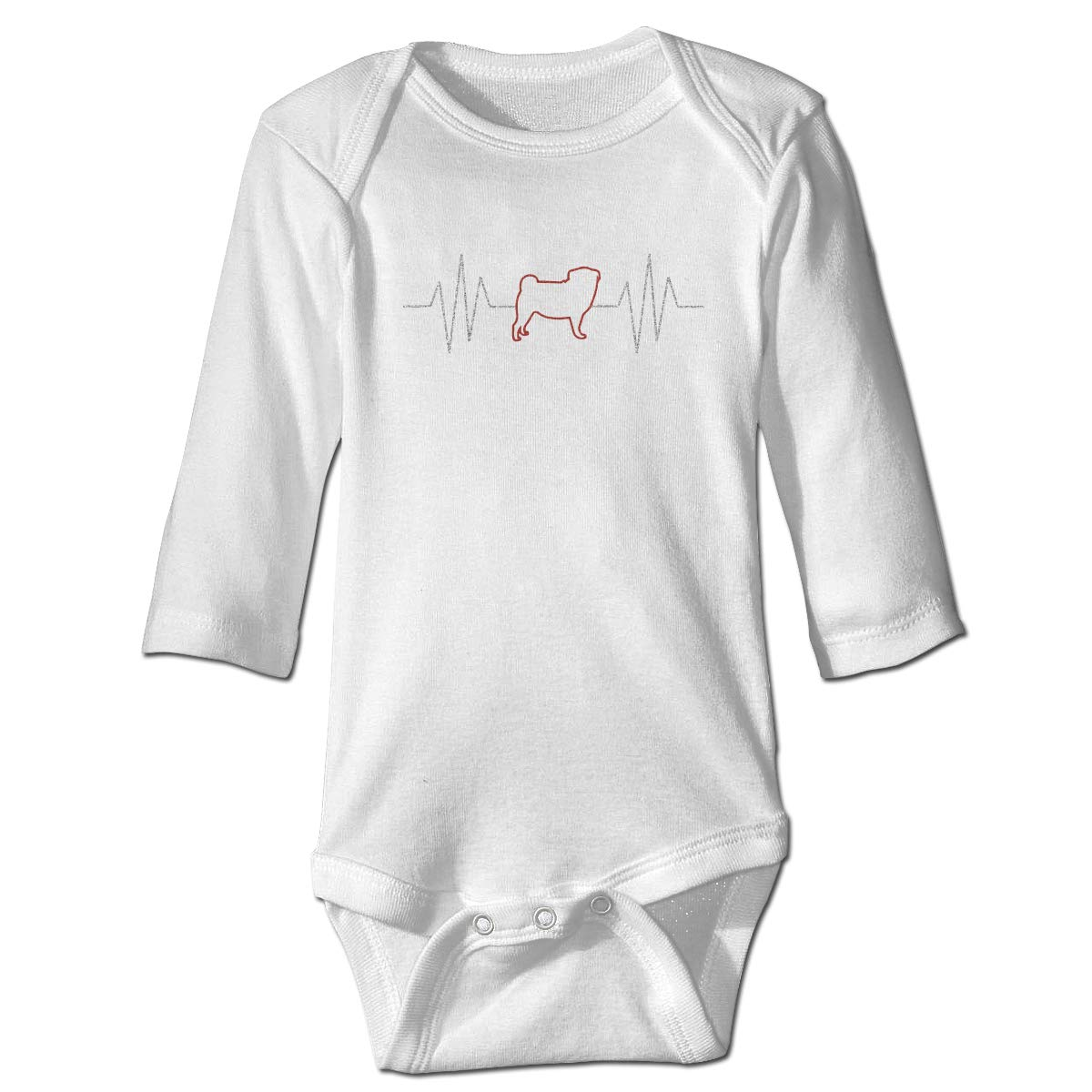 XHX Infant Dog Heart Beat Long Sleeve Romper Onesie Bodysuit Jumpsuit