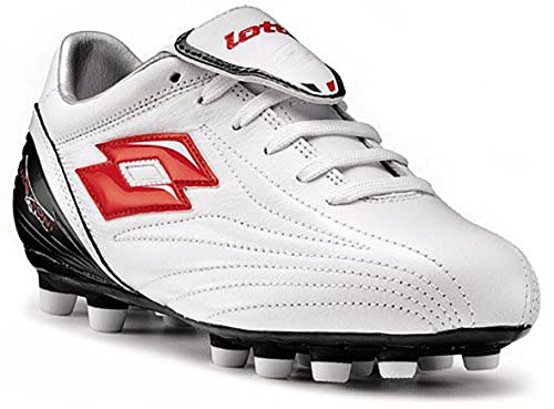hot sales 18cbe 6eb6f Lotto Zhero Leggenda Lt FG Junior Youth Nockenschuh Black White White Size   5