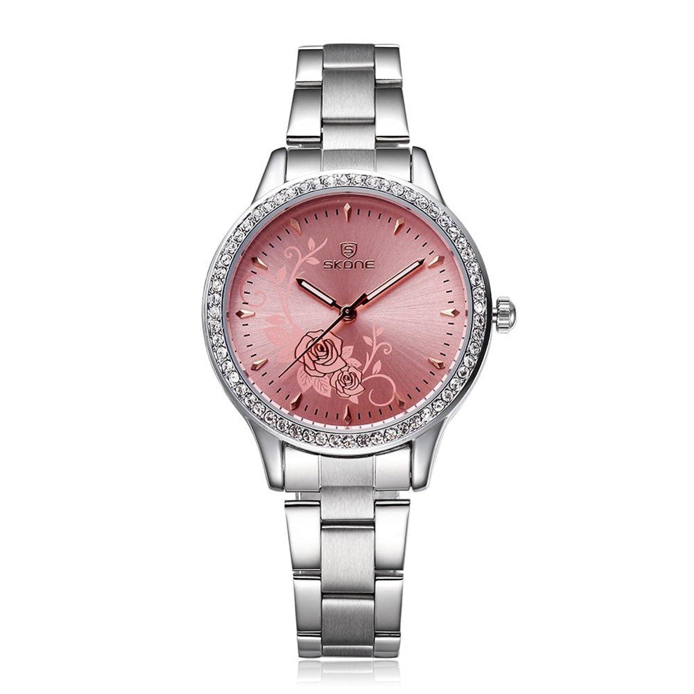 Amazon.com: Reloj De Dama Para Mujer Quartz Watch Fashion Casual Luxury Relogio Feminino: Watches