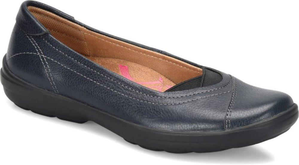 Comfortiva Womens Renee Leather Closed Toe Ballet Flats B0748KMSTP 7.5 C/D US|Navy