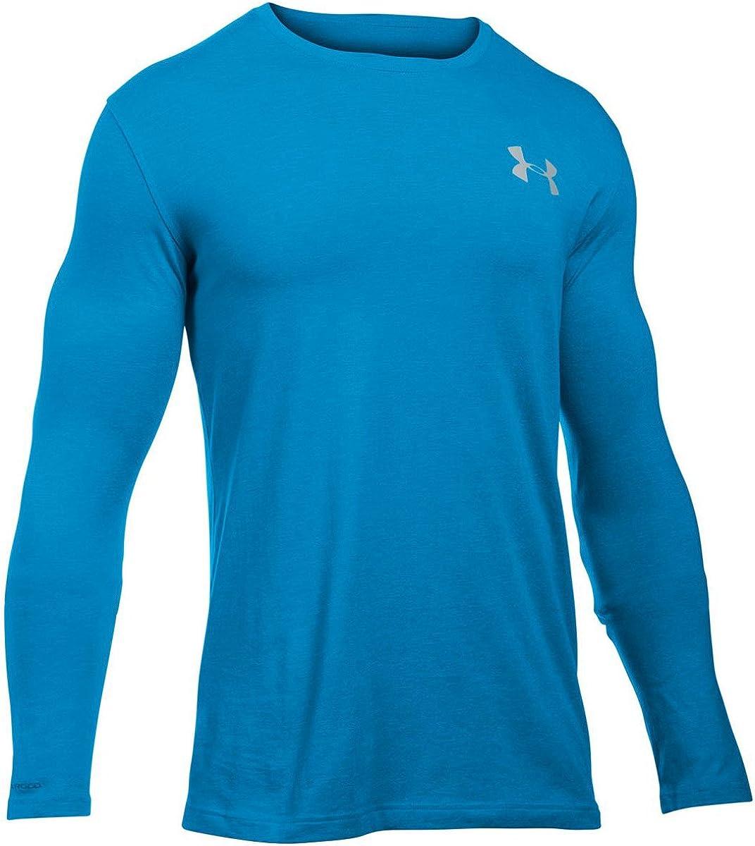 Under Armour Men/'s Midnight Navy UA Threadborne Seamless Long Sleeve T-Shirt