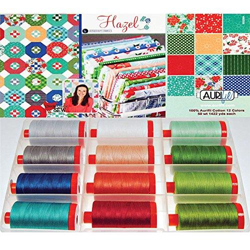 - Aurifil Hazel Thread Collection by Allison Harris 50wt 12 Large Spools