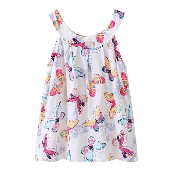 💜 Vestido de Estampado Floral Chica, Vestido de Verano Lindo bebé Niños Niña Vestido de Princesa Fiesta Floral Vestido de Tutú Absolute: Amazon.es: Ropa y ...