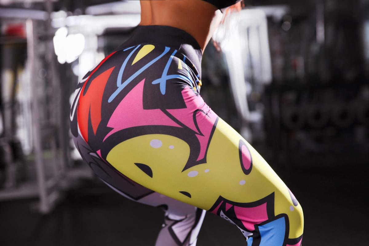 Womens Fashion Print High Waist Leggings-Printed Workout Yoga Pants-Gym Stretch Tummy Control Yoga Athletic Shorts