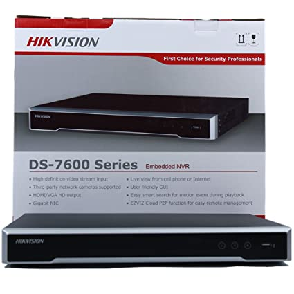 Hikvision DS-7608NI-I2/8P 8CH IP Network Video Recorder Integrated 8 POE  Embedded Plug & Play 4K NVR [2016 New Model]