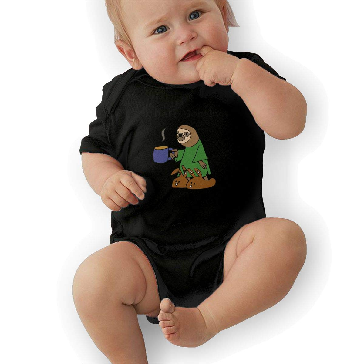 Infant Short Sleeve Bodysuit Funny Sloth Hates Mornings Infant Romper Jumpsuit