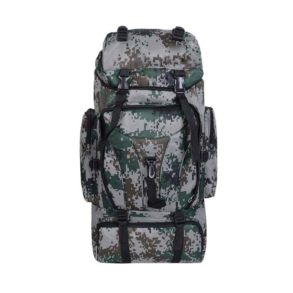 MYXMY Outdoor Mountaineering Backpack Travel Backpack Camouflage Tactical Multi-Function Bag Large Capacity Bag (Color : A)