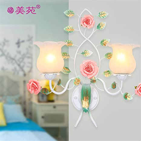 Floral NEW Ceramic Night Light Lamp Shade Roses