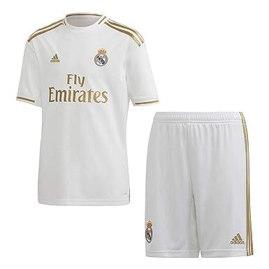 adidas Real H Y Kit Equipación, Unisex niños, Top:White Bottom ...