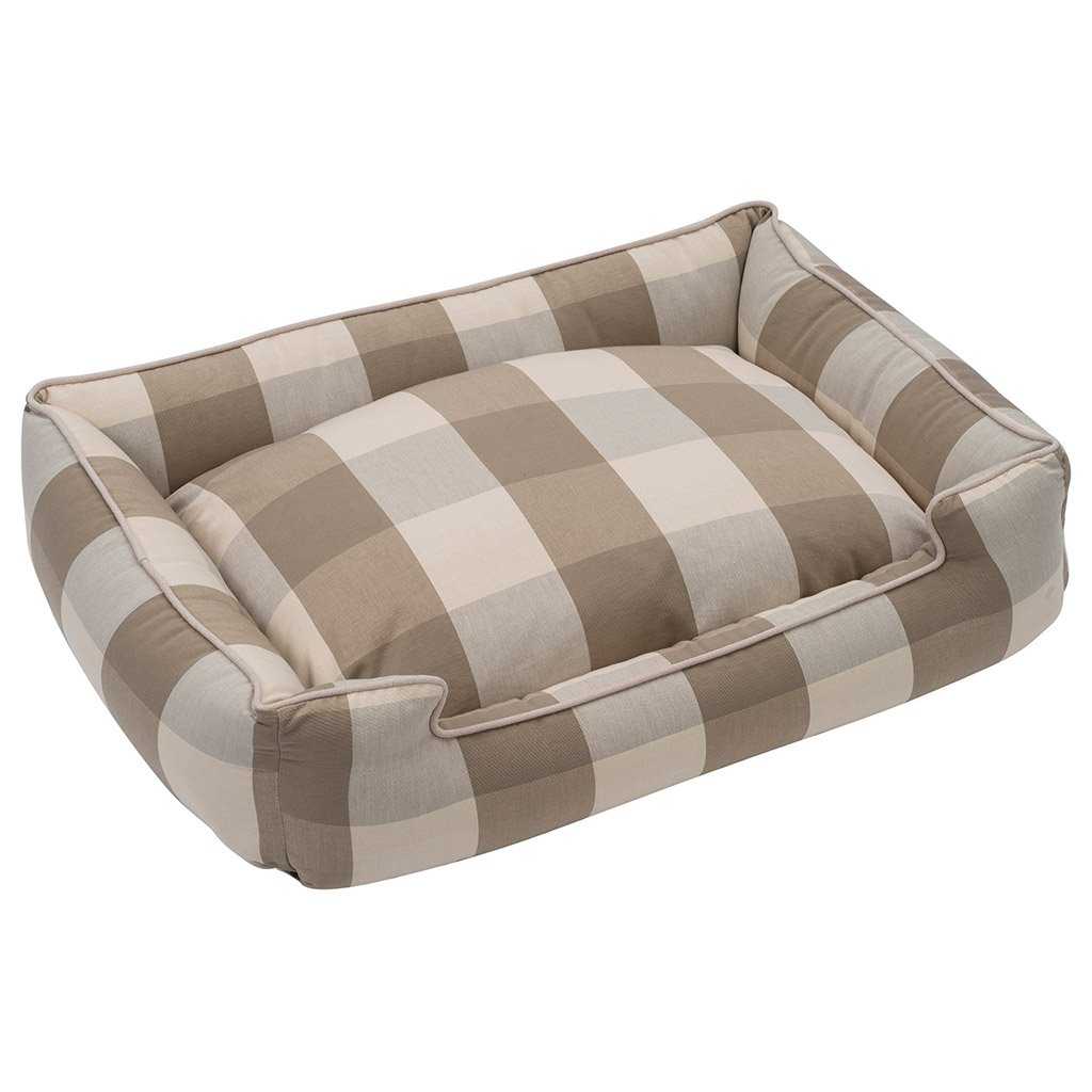 Jax and Bones Buffalo Check Puddy Premium Cotton Blend Lounge Bed-Medium