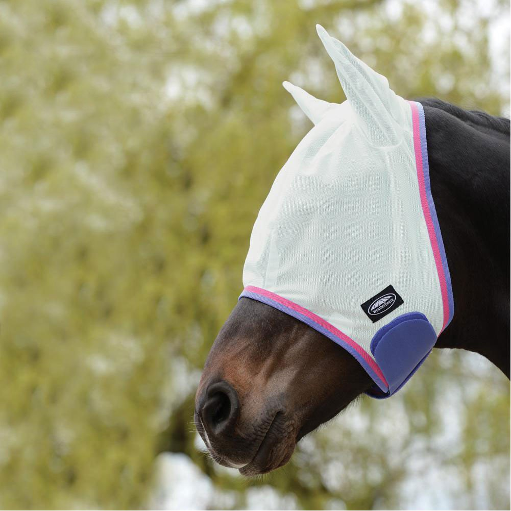 Weatherbeeta ComFiTec Essential Mesh Fly Mask Cob White