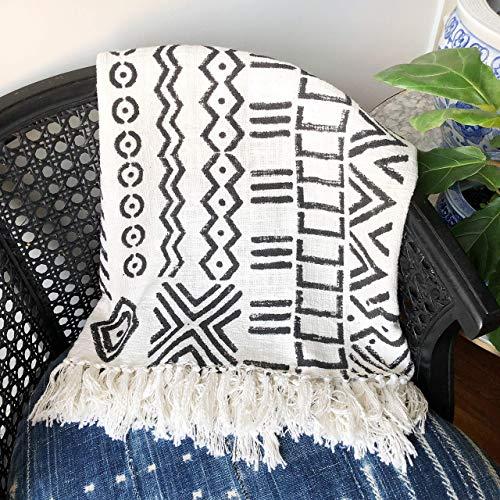 Black & white mudcloth blanket