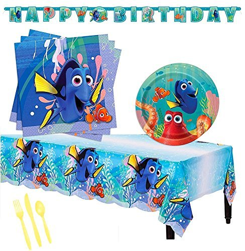 Finding Dory Children Birthday Party Tableware Pack - Serves 16 ()