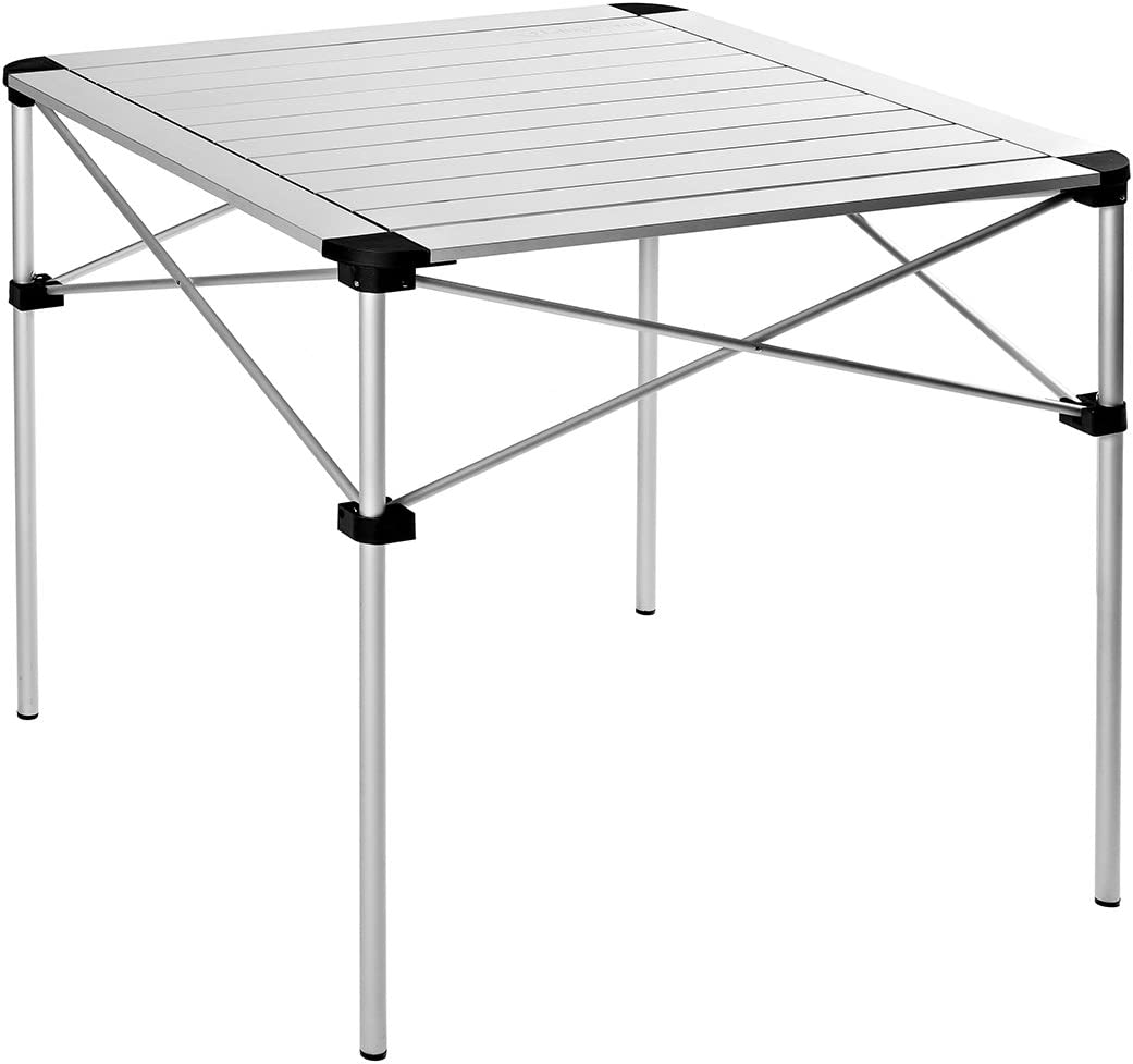 KingCamp Camping Table Folding Aluminum Roll Up Top Collapsible Lightweight Portable Compact Camp Table Weatherproof and Rust Resistant for Outdoor Picnic Cookout