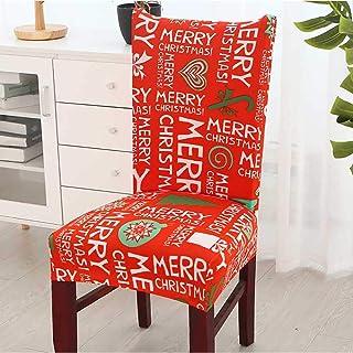 Shuzhen,Creativa Tela navideña de Moda elástica Fuerza la decoración de la Silla(Color:Multi-A,Size:90 * 50 * 1CM)