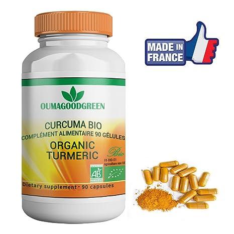 Cúrcuma orgánica 90 cápsulas-Efectos inmediatos-Raíces de Cúrcuma Longa para aliviar las articulaciones