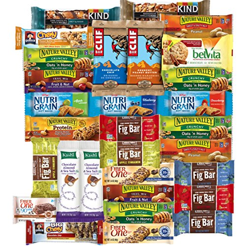 Fig Bars Recipe - Healthy Bars & Snacks Bulk Variety Pack (Care Package 30 Count)