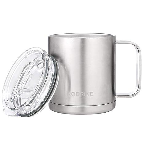 Amazon.com: Taza de café de acero inoxidable con aislamiento ...
