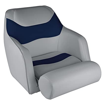 Wise 8WD1205 0034 Bucket Seat With Flip Up Bolster, Grey/Navy