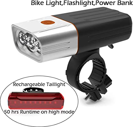 1000 Lumen Bicycle Headlight USB chargeable Battery Waterproof Safety Flashlight
