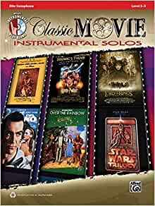 Amazon com: Classic Movie Instrumental Solos: Alto Sax, Book & CD