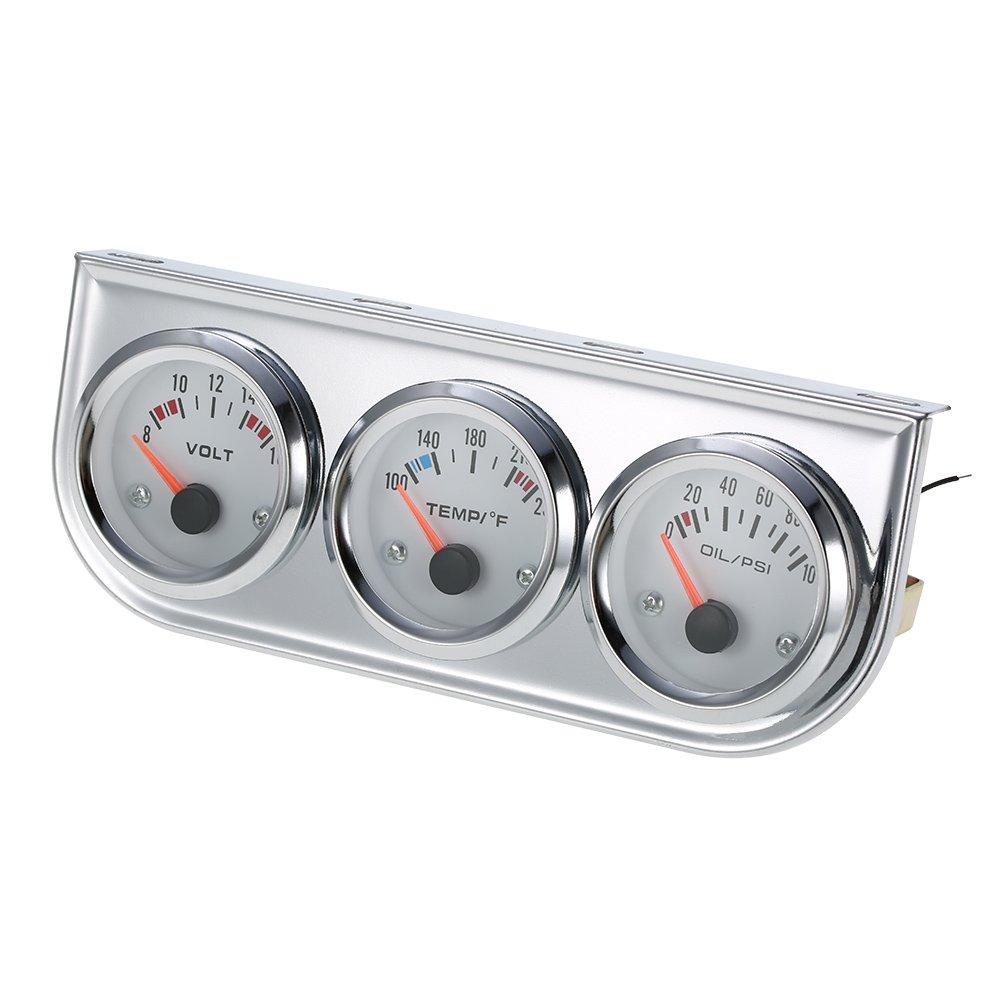 Walmeck Misuratore di Pressione dellAcqua del Tester del Motociclo dellautomobile del corredo del Calibro di 3 in 1 Calibro del Tester di Temperatura dellAcqua di Celsius