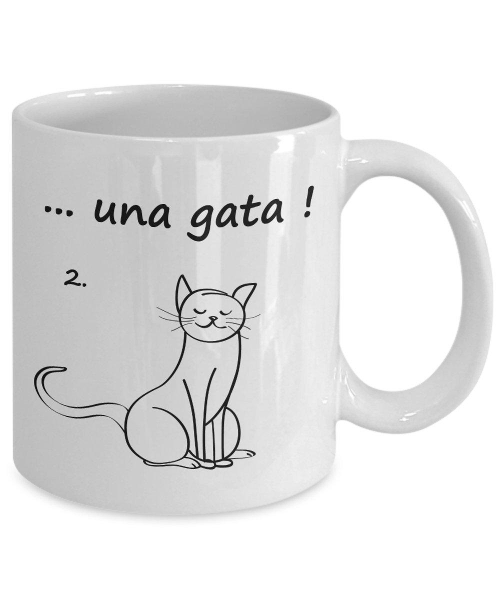 Amazon.com: Taza Graciosa de Gato Chistes para Adultos Regalo para Hombre: Kitchen & Dining